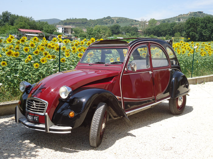citro n 2cv hire chianti classic cars tuscany italy. Black Bedroom Furniture Sets. Home Design Ideas