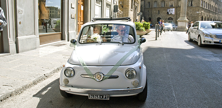 Wedding and honeymoon vintage cars hire